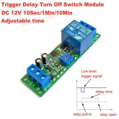 Dc 12v Signal Trigger Relay Delay Time Turn Off On Timer Control Switch Module Timer Relay Turn Ons