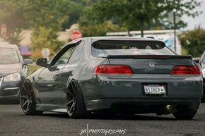 Nice ride height on this Honda Prelude!