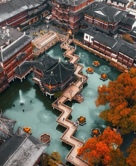 Yu Garden area Shanghai China - Architecture and Historic Places - Buildings - Amazing Travel Photography and Sightseeing Destinations China Architecture, Ancient Greek Architecture, Garden Architecture, Beautiful Architecture, Architecture Layout, Gothic Architecture, Beautiful Places To Visit, Beautiful World, China Garden
