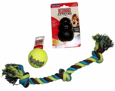 Dog Toy Bundle 1 Medium Kong Extreme Dog Toy Black 1