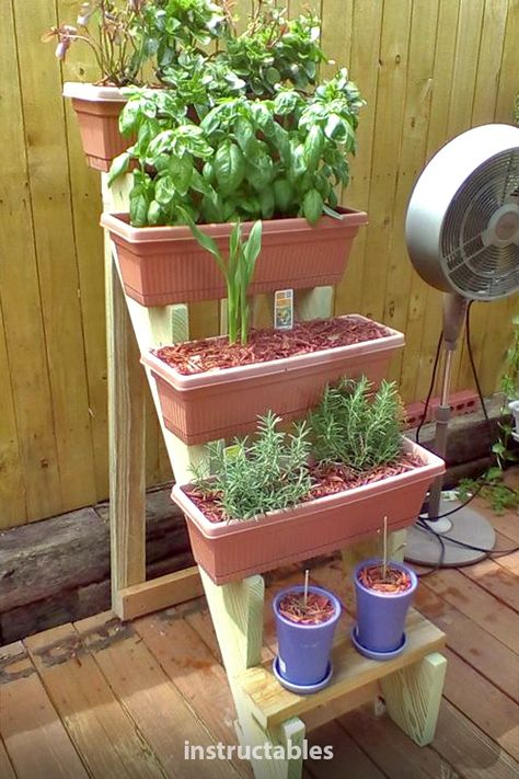 shoop61 shares how to make window box planter stairs with reasonable skills with power tools. #Instructables #workshop #woodworking #woodshop #gardening