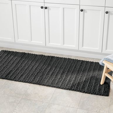 Mdesign Cotton Spa Bath Mats Rectangular Bathroom Rugs Braided