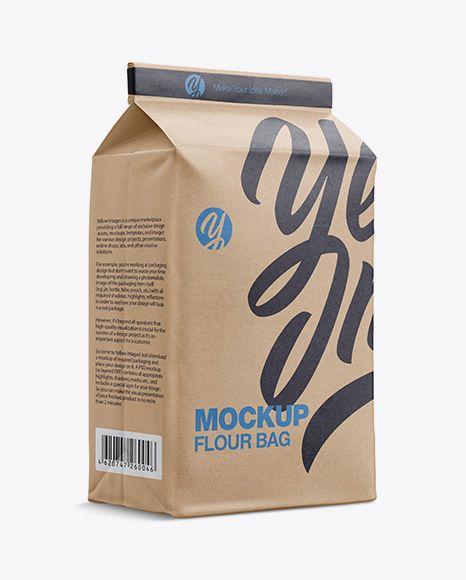 Download Kraft Paper Flour Bag Mockup Halfside View Eye Level Shot In Bag Sack Mockups On Yellow Images Object Mockups Packaging Mockup Mockup Free Psd Bag Mockup