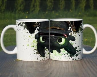 How To Train Your Dragon Toothless Watercolor Coffee Mug Tea Cup