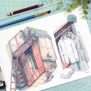 Keys Watercolor Draw Drawing Painting Illustrator