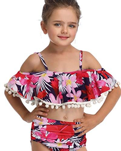 LOSHOW Mommy and Me Swimsuits Tassel Two Piece Bathing Suits Family Matching Swimwear