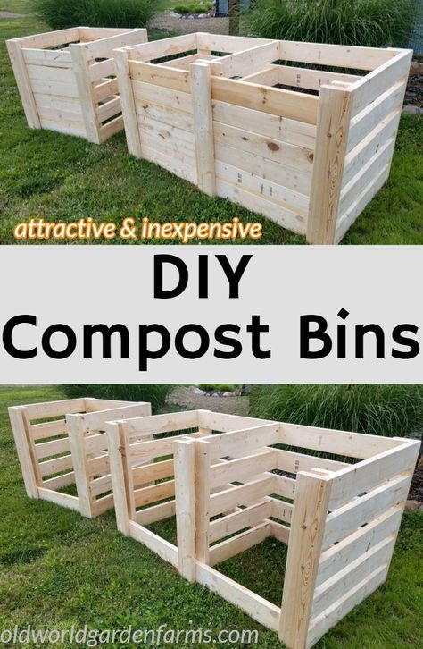 How To Create The Perfect DIY Compost Bins - Attractive & Inexpensive! - How To Create The Perfect DIY Compost Bins – Attractive & Inexpensive! How To Create The Perfect DIY Compost Bins – Attractive & Inexpensive! Compost Barrel, Compost Soil, Garden Compost, Worm Composting, Diy Compost Bin, Herbs Garden, Outdoor Compost Bin, Making A Compost Bin, Diy Compost Tumbler