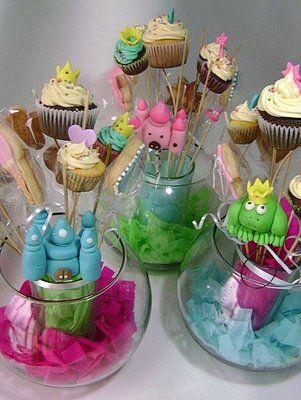 Galletas Y Cupcakes / Cursos Princesas Con Sabor Centros De Mesa