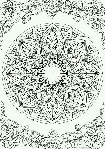 Pin De Dinorah Aparicio Ardon En Arte Mandalas Para Colorear