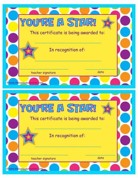 Blank Certificate Templates for Students Star Certificate Template - new dog training certificate template