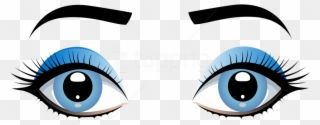Download Blue Female Eyes With Eyebrows Clipart Png Cartoon Girl Eyes Png Transparent Png Cartoon Girl Eyes Eye Art Female Eyes