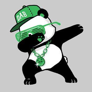 Dabbing Panda Funny Shirt Dab Hip Hop Green Panda Art Panda Funny Cute Bunny Cartoon