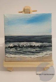 Kleines Landschaftsgemalde Am Meer Landschaftsmalerei Mit Strand