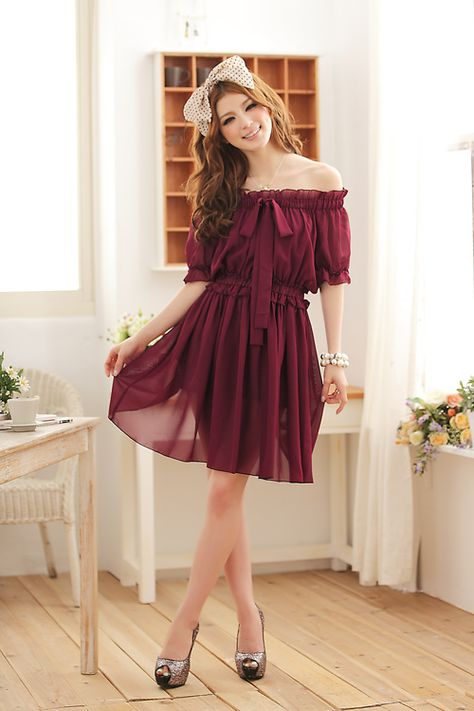 wholesale asia women fashion dress k8221 Red(out of stock