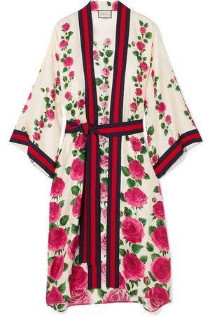 4dd6b696010 Gucci Women Bathrobes - Le Jardin De Rose Grosgrain-trimmed Printed ...