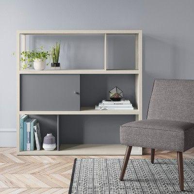 49 8 Siebert 3 Shelf Horizontal Bookcase White Project 62
