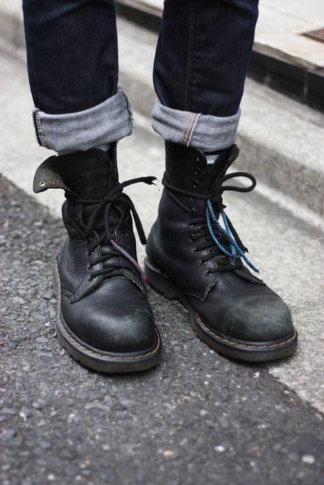 b54ee0fd5d0e2 M-street-Style men jeans dr Martens streetstyle fashion hipster men tumblr  | shoes v roce 2019 | Obuv a Oblečení