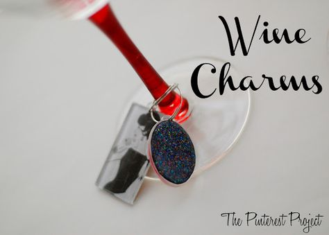 The Pinterest Project: Mod Podged Wine Charms