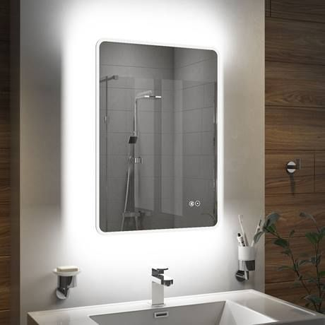 Turin 500x700mm Ambient Colour Change Led Bluetooth Mirror Inc Touch Sensor Anti Fog Color Changing Led Bluetooth Bathroom Mirror Mirror