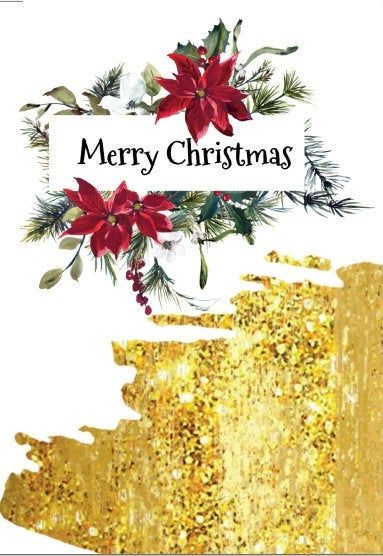Gold Christmas Card Merry Christmas Elegant Design Card Template By Cloudedmeadow On Etsy Christmas Card Template Christmas Cards Gold Christmas
