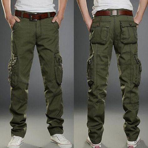 Aiya Mens Washed Ripstop Camo Outdoor Combat Tactical Pant