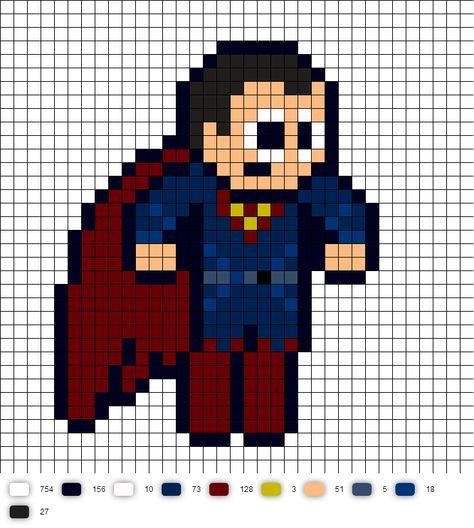Batman Vs Superman Superman Pixel Art Minecraft Pixel Art