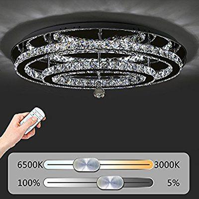 Jdong Hochwertige Led Kristall Deckenleuchte Deckenlampe 60w