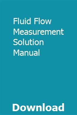 Fluid Flow Measurement Solution Manual Repair Manuals Chilton Repair Manual Fluid Flow