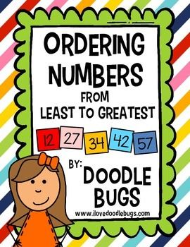 Ordering Numbers Least To Greatest Math Unit Ordering Numbers Math Number Sense Teaching First Grade