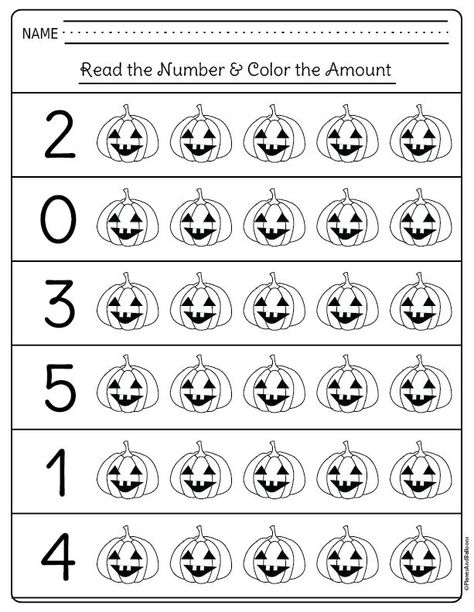 Halloween math activities kindergarten students and teachers need! I am glad I don't need to look for kindergarten math printables any longer. Use these free printables for extra homework or kindergarten math centers. Fall Preschool, Preschool Learning Activities, Homeschool Kindergarten, Preschool Math, Kindergarten Worksheets, Daycare Curriculum, Numbers Kindergarten, Spanish Activities, Vocabulary Activities