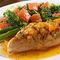 Olive Garden's Venetian Apricot Chicken (recipe found here: http://www.olivegarden.com/Connections-to-Italy/Recipes/Main-Dishes/Venetian-Apricot-Chicken/).  And although there is no picture, I've tried the Capellini Pomodoro recipe and it's really good.  You can find that here: http://www.olivegarden.com/Connections-to-Italy/Recipes/Main-Dishes/Capellini-Pomodoro/