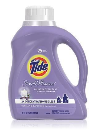 Tide Simple Pleasures Vanilla And Lavender Laundry Detergent