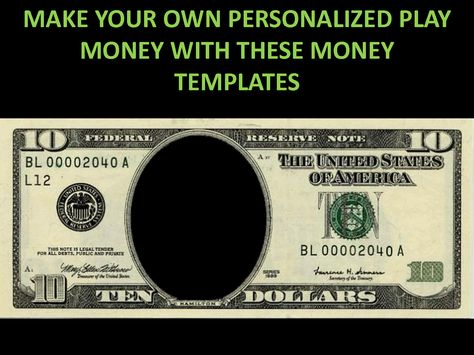 play money printable - Google Search Cmas Pinterest - play money template