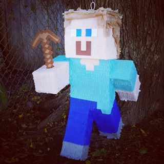 Blonde Steve pinata! #Minecraft | S&S Party Creations ~Pinatas