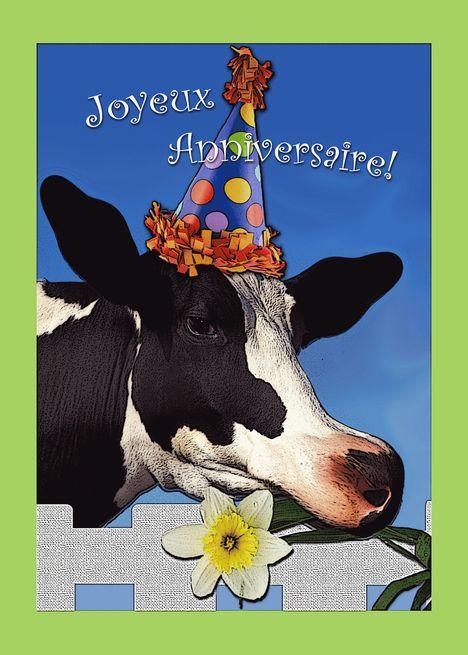 Cow Happy Birthday Meme : happy, birthday, Joyeux, Anniversaire,, Happy, Birthday, French,, Party, #spon,, Happy,, Funny, Greeting, Cards,, Cards