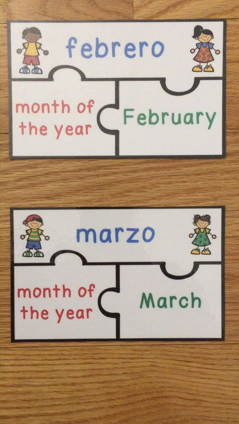 Spanish Days of the Week and Months of the Year Game Dias De La Semana y Meses