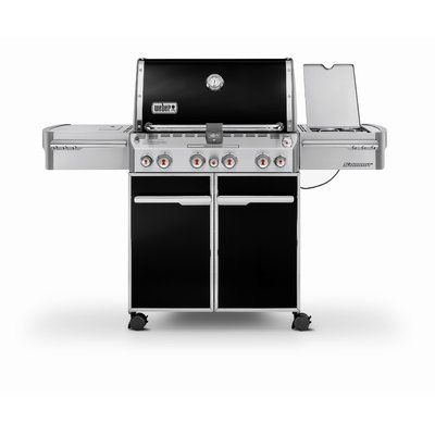 Weber Summit E 470 4 Burner Natural Gas Grill With Side Burner Gas Bbq Gas Grill Natural Gas Grill