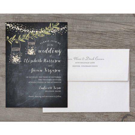 Twinkling Jars Deluxe Wedding Invitation Walmart Com Wedding Invitations Brown Wedding Invitations Order Wedding Invitations
