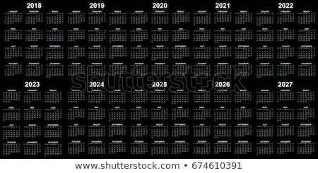Ten Year Calendar 2018 2019 2020 2021 2022 2023 2024 2025 2026 And 2027 In Black Background Calendar 2018 Calendar Yearly Calendar