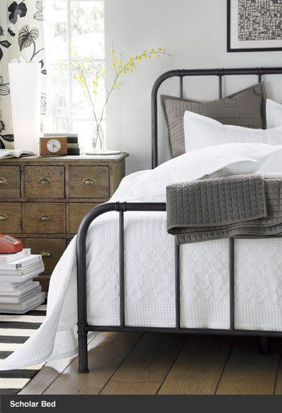 Grey Industrial Farmhouse Bedroom