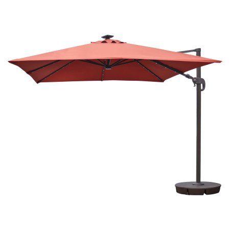 santorini ii fiesta 10 square cantilever umbrella terra cotta
