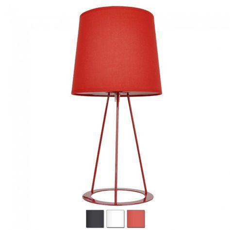 Bata Small Tripod Table Lamp Red   Lamp, Tripod table lamp