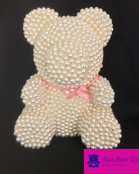 Create A Real Fairytale For Your Beloved Ones With Our Handmade Designs Pearl Bear Is A Present Of A Lifetime Bear Crafts Bear Valentines Diy Teddy Bear