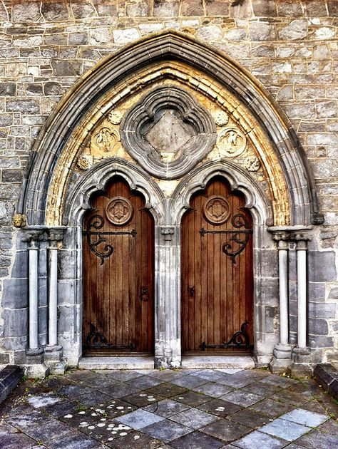 West doorway - St Canice's Cathedral, Kilkenny City, Ireland.