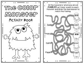 The Color Monster A Book Companion Monster Activities Book Companion Monster Book Of Monsters