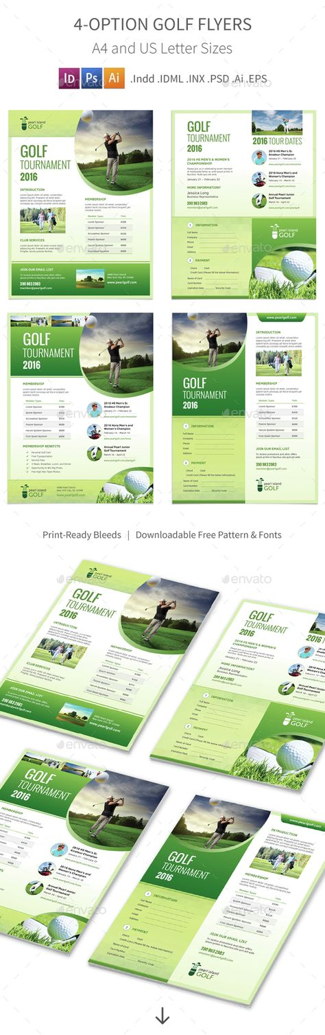 Golf Tournament - Flyer Template 02 Flyer template, Golf and Adobe - golf tournament flyer template