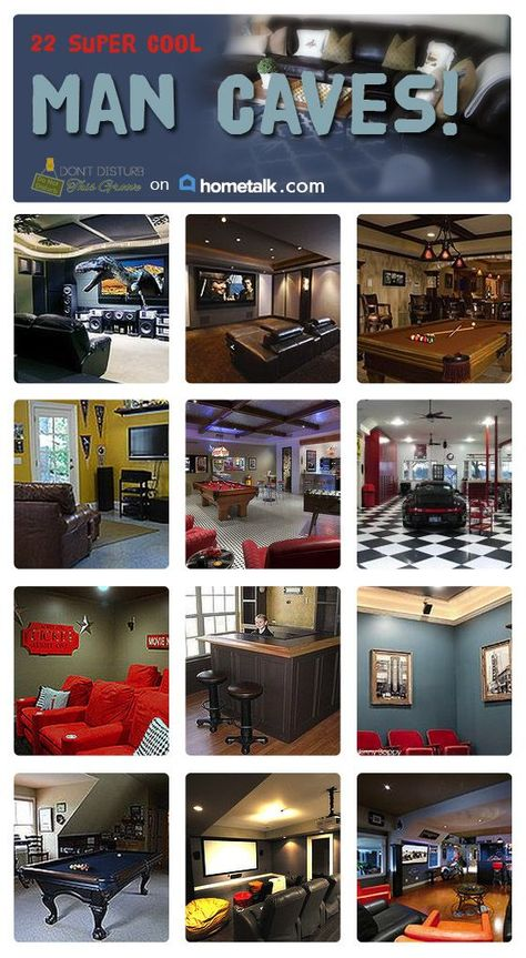 Great ideas for creating a Man Cave!