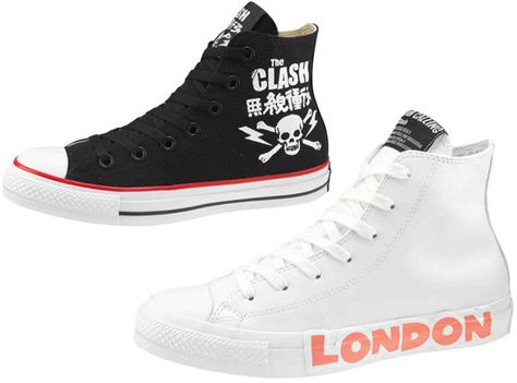 The Clash x Converse Chuck Taylor Collection | Chuck taylors