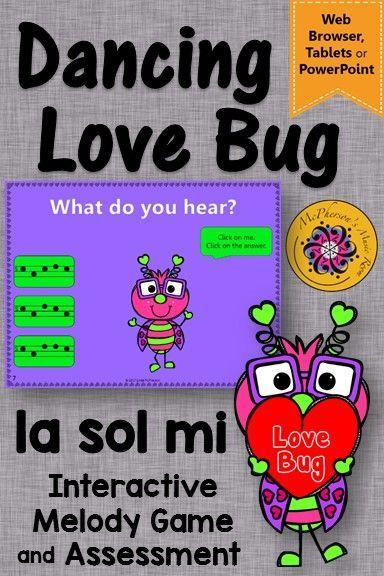 Valentine's Day Music Game: Sol Mi La Interactive Melody +