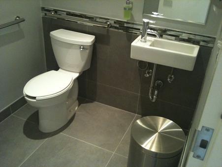 24x24 tile in small bathroom ceramic